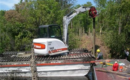 Bobcat Piling Attachment