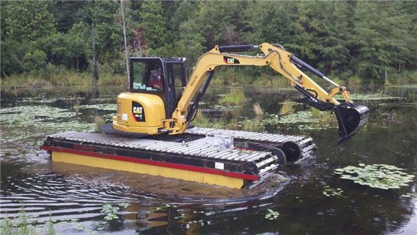 Picture of a Marsh Buggy Excavator Working in a Swamp